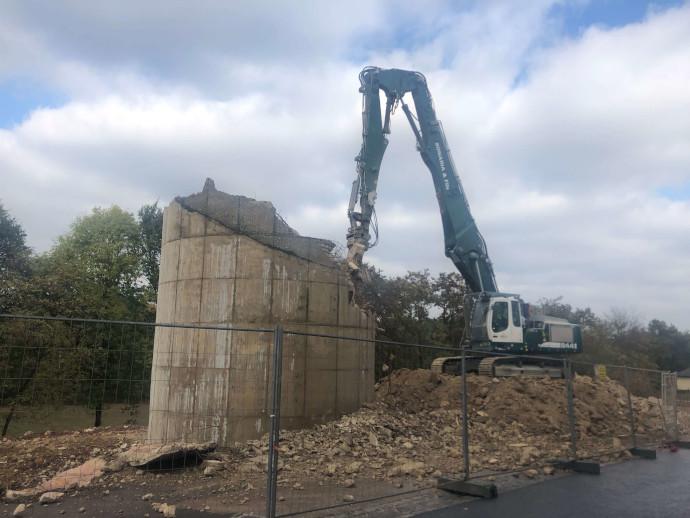 Démolition silo