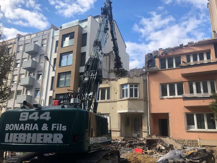 Démolition deux maison collées