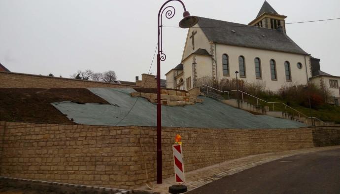 Aménagement exterieur au Luxembourg – environnement église