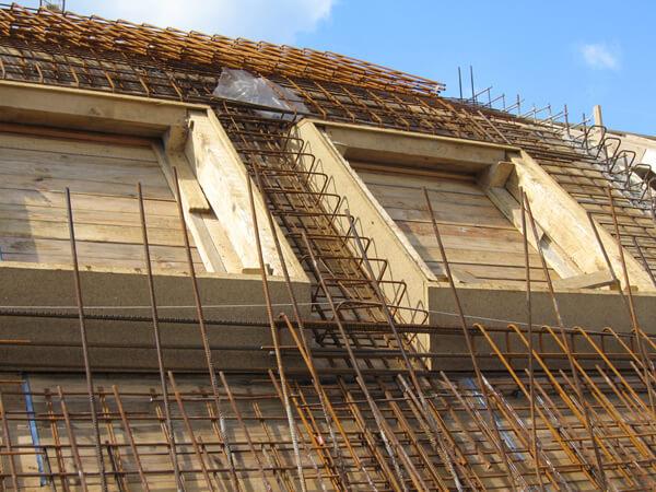 Construction maison toit